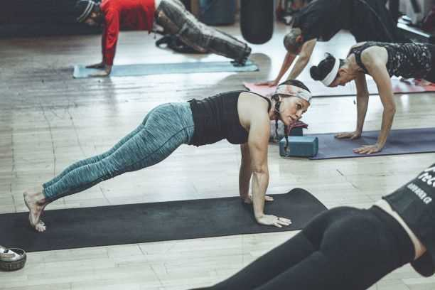 Yoga class resized